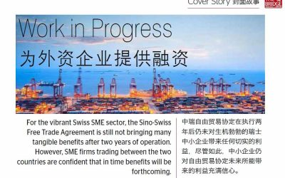 The Bridge. Work in Progress. Article on the Sino-Swiss Free Trade Agreement.