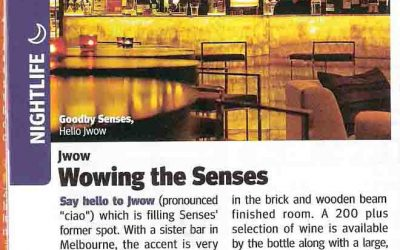 City Weekend. Jwow – Wowing the Senses. Bar review.