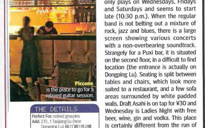 City Weekend. Piccone – Hidden Rock Gem. Bar review.